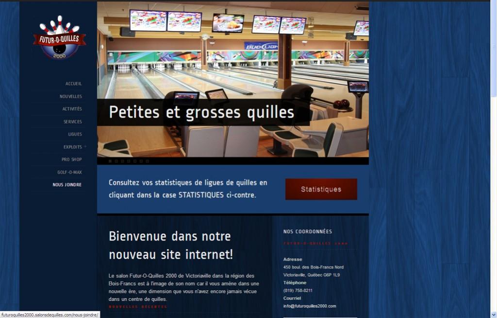 Accueil site web Futur-O-Quilles 2000